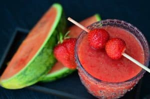 watermelon and smoothie