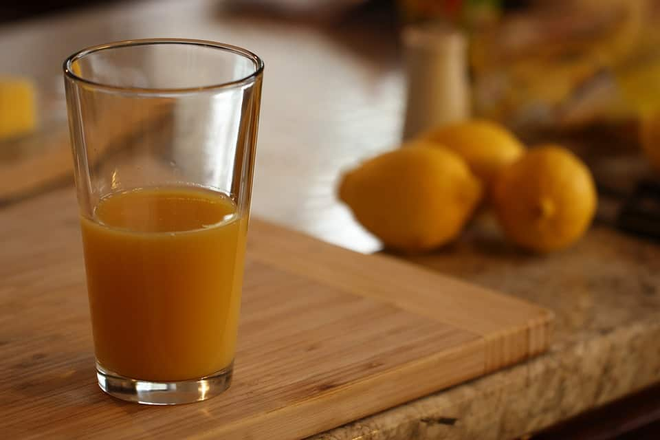 A glass of fresh juice