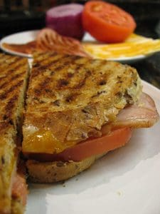 sandwich from the best panini press