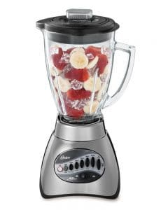 Oster 6811 6-Cup Glass Jar 12-Speed Blender, Brushed Nickel-min