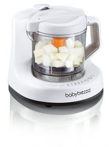 Baby Brezza Baby Food Maker Machine - One Step Steamer and Blender - Puree Baby Food For Pouches - Mixes Organic Food for Infants and Toddlers-min