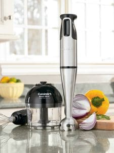 Cuisinart CSB-77 Smart Stick Hand Blender with Whisk and Chopper Attachments-min