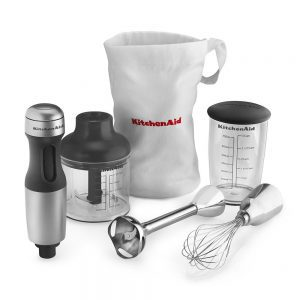 KitchenAid KHB2351CU 3-Speed Hand Blender - Contour Silver-min