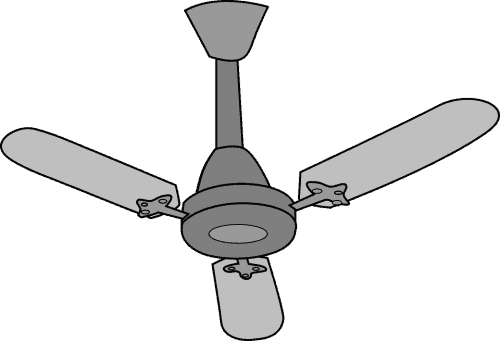 ceiling fan with 3 fan blades
